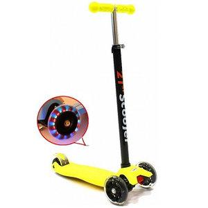 Самокат трехколесный 21st scooter maxi со светящимися колесами 21vek желтый