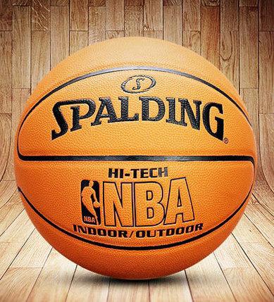 Баскетбольный мяч Spalding кожа, фото 2