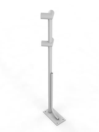 Двухрядный напольный угловой кронштейн, фото 2