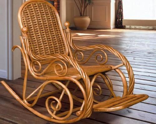 Ротанговое кресло качалка, фото 2