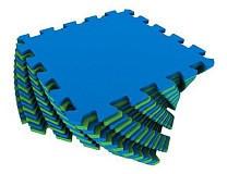 Универсальный коврик 25*25(см) сине-зеленый