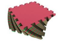 Мягкий пол универсальный 25*25(см) красно-зеленый,, фото 2