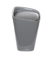 Табурет серый из ABS, с контейнером 40X50,5X40 см