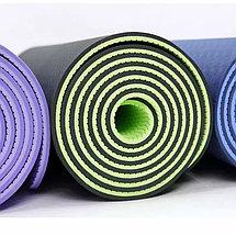 Коврик гимнастический зеленый, фото 3