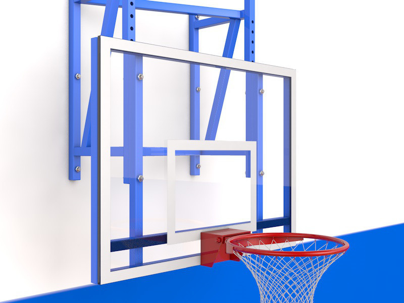 Ферма для баскетбольного щита (С регулировкой высоты, под тренировочный щит (вынос 0,5м))