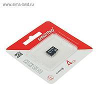 Карта памяти Smartbuy microSD, 4 Гб, SDHC, класс 4