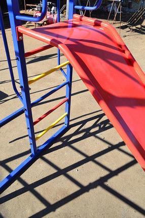 Комплекс спортивно-игровой с горкой, уличный , фото 2