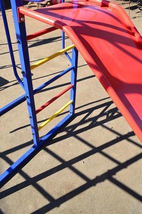 Комплекс спортивно-игровой с горкой и качелями, уличный, фото 2