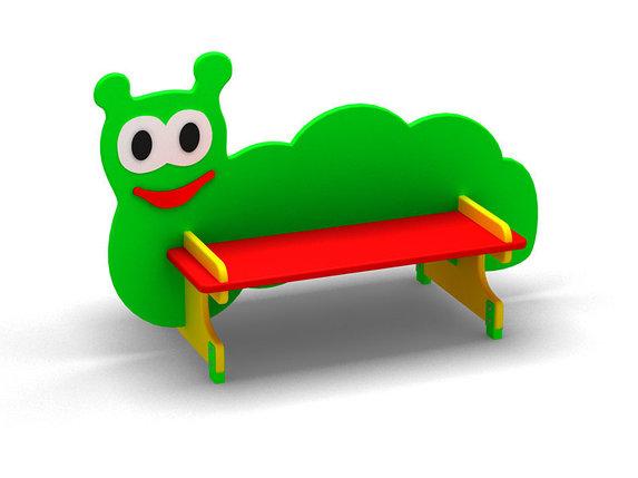 Скамейка для детской площадки «Гусеницa», фото 2