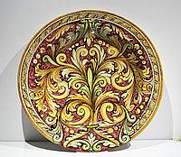 Блюдо для бешбармака ручной работы, керамика. Италия
