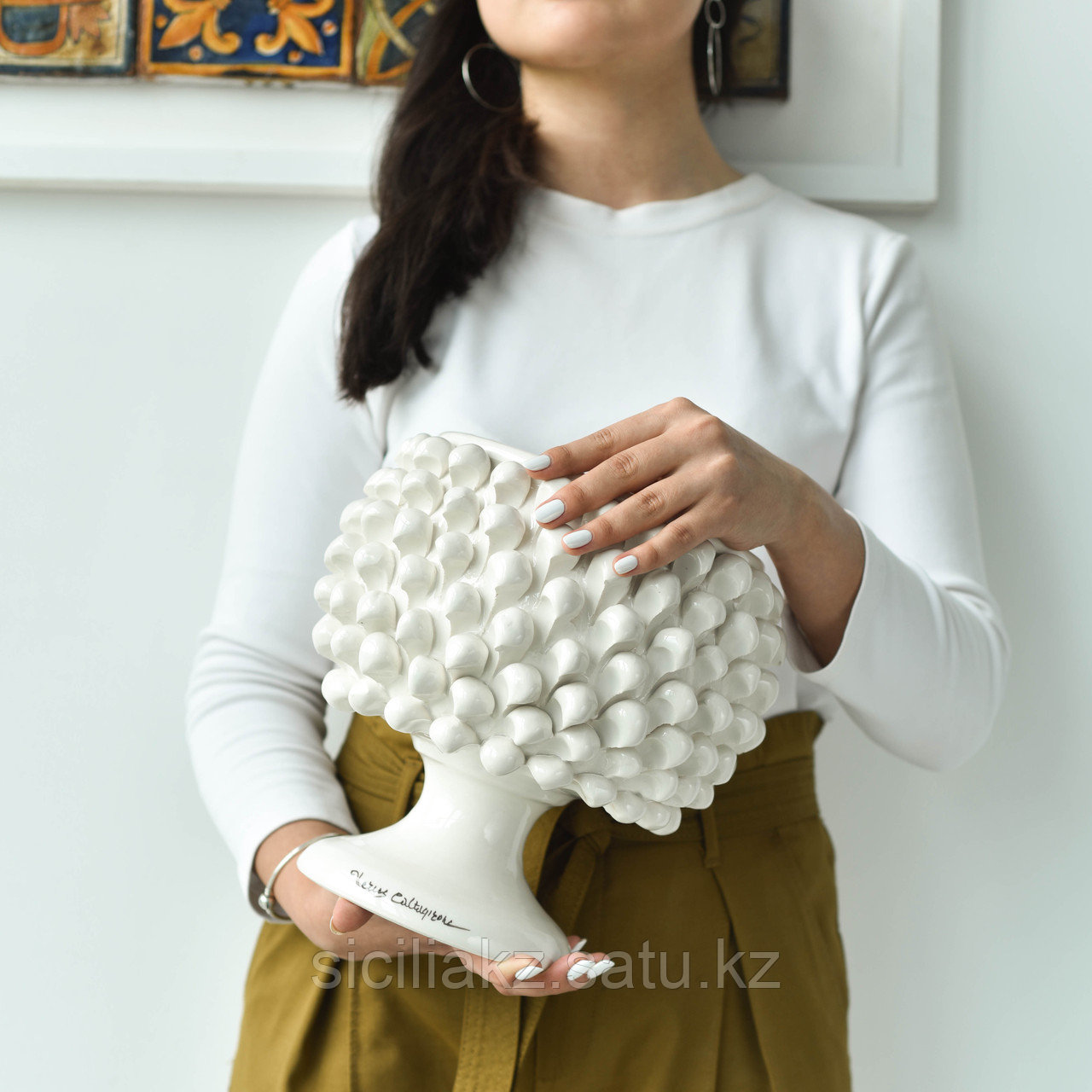 Декоративная Ваза Пигна ручной работы, керамика. Италия - фото 2