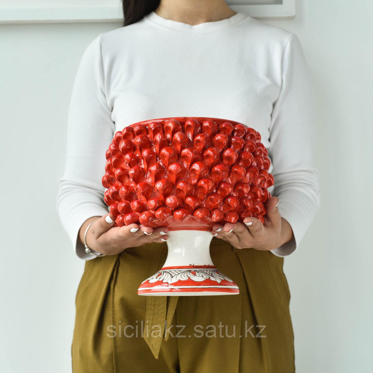 Декоративная Ваза Пигна ручной работы, керамика. Италия - фото 3