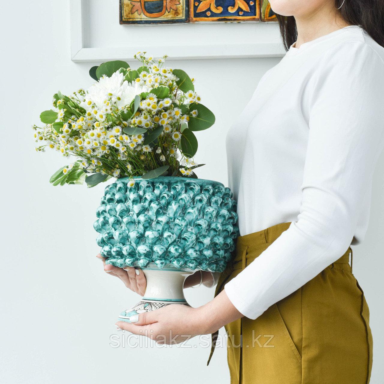 Декоративная Ваза Пигна ручной работы, керамика. Италия - фото 6