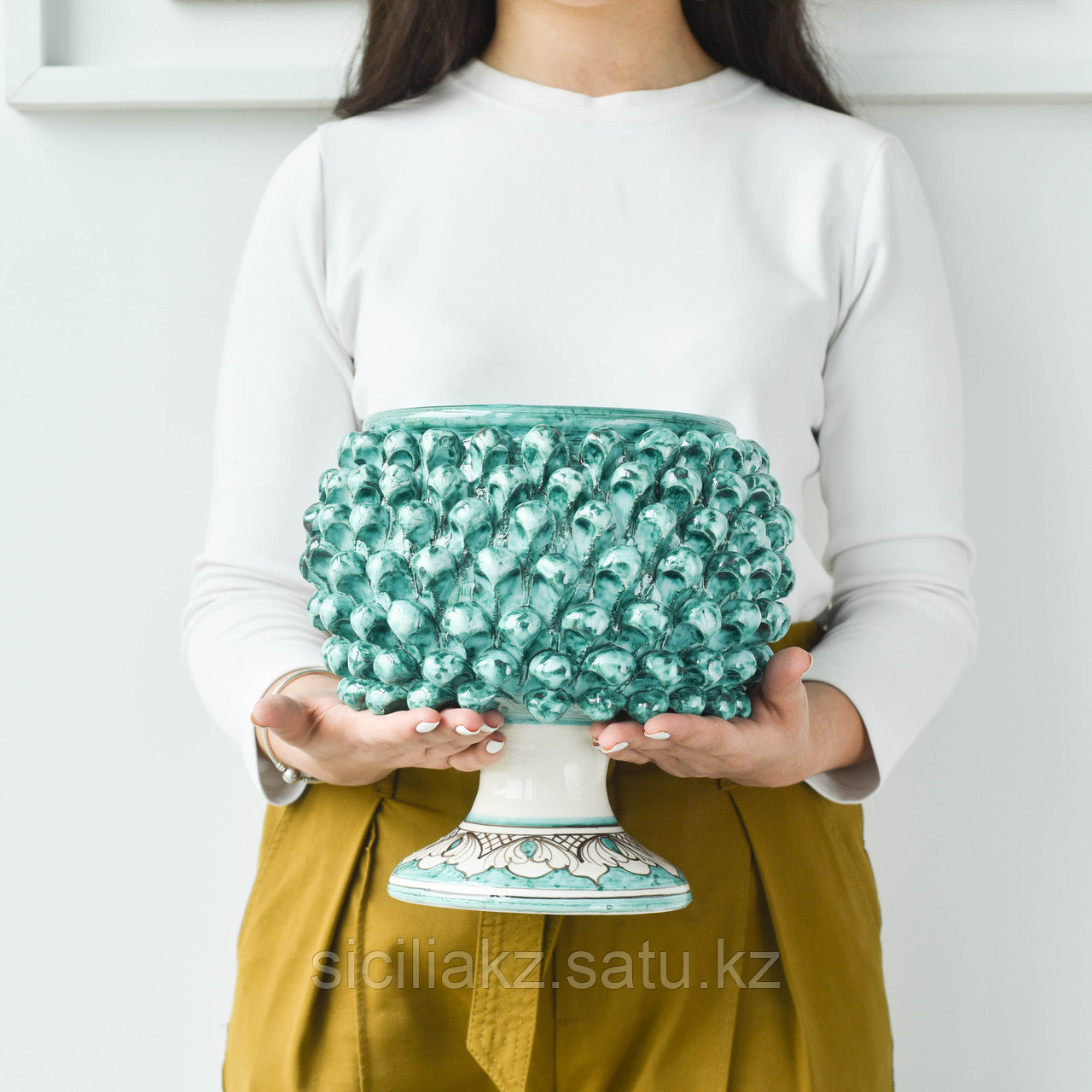 Декоративная Ваза Пигна ручной работы, керамика. Италия - фото 7