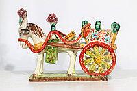 Декоративная карета ручной работы, керамика. Италия