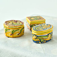 Шкатулка ручной работы, керамика. Италия
