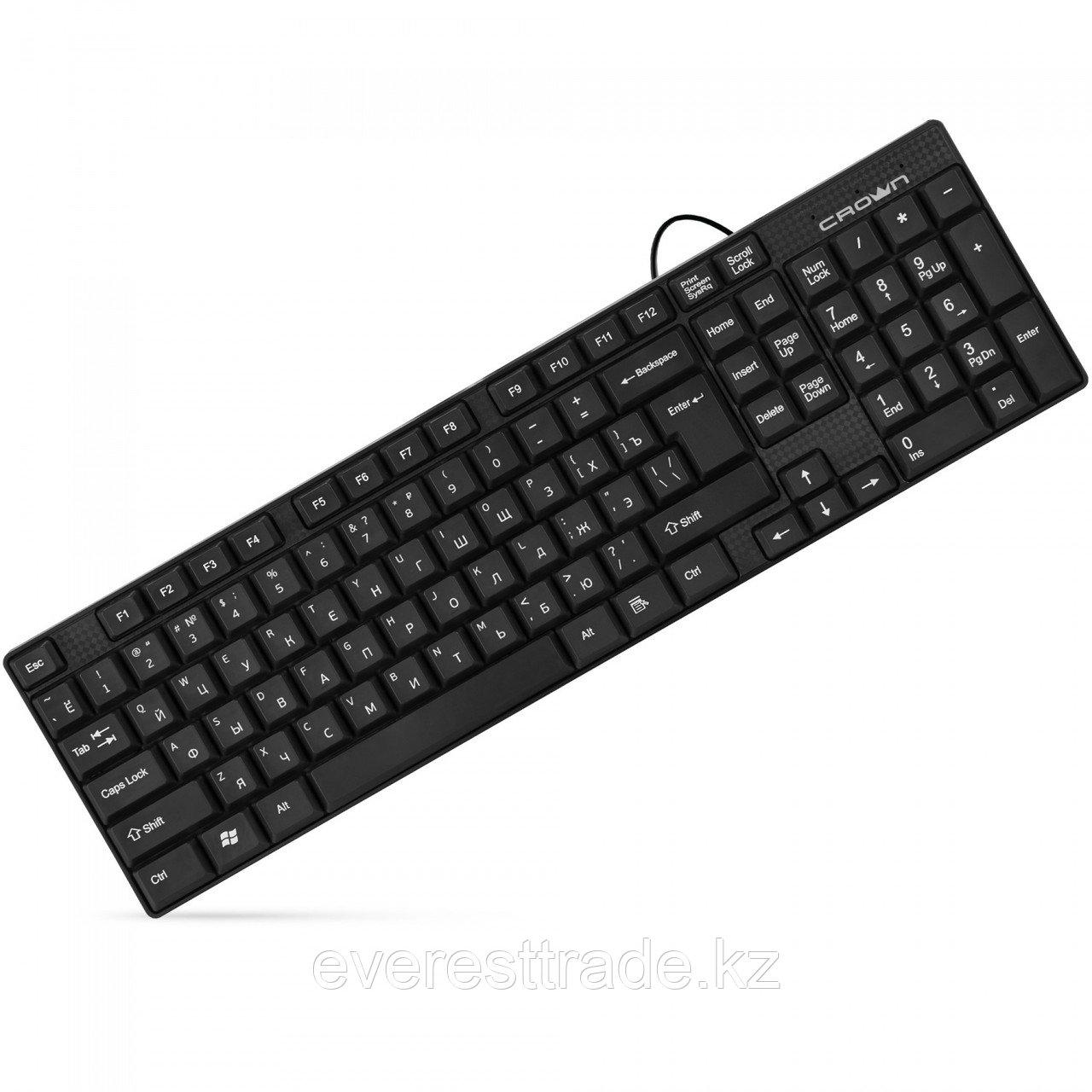 Клавиатура проводная Crown CMK-479, USB, 1,8m