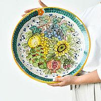 Блюдо ручной работы, керамика. Италия