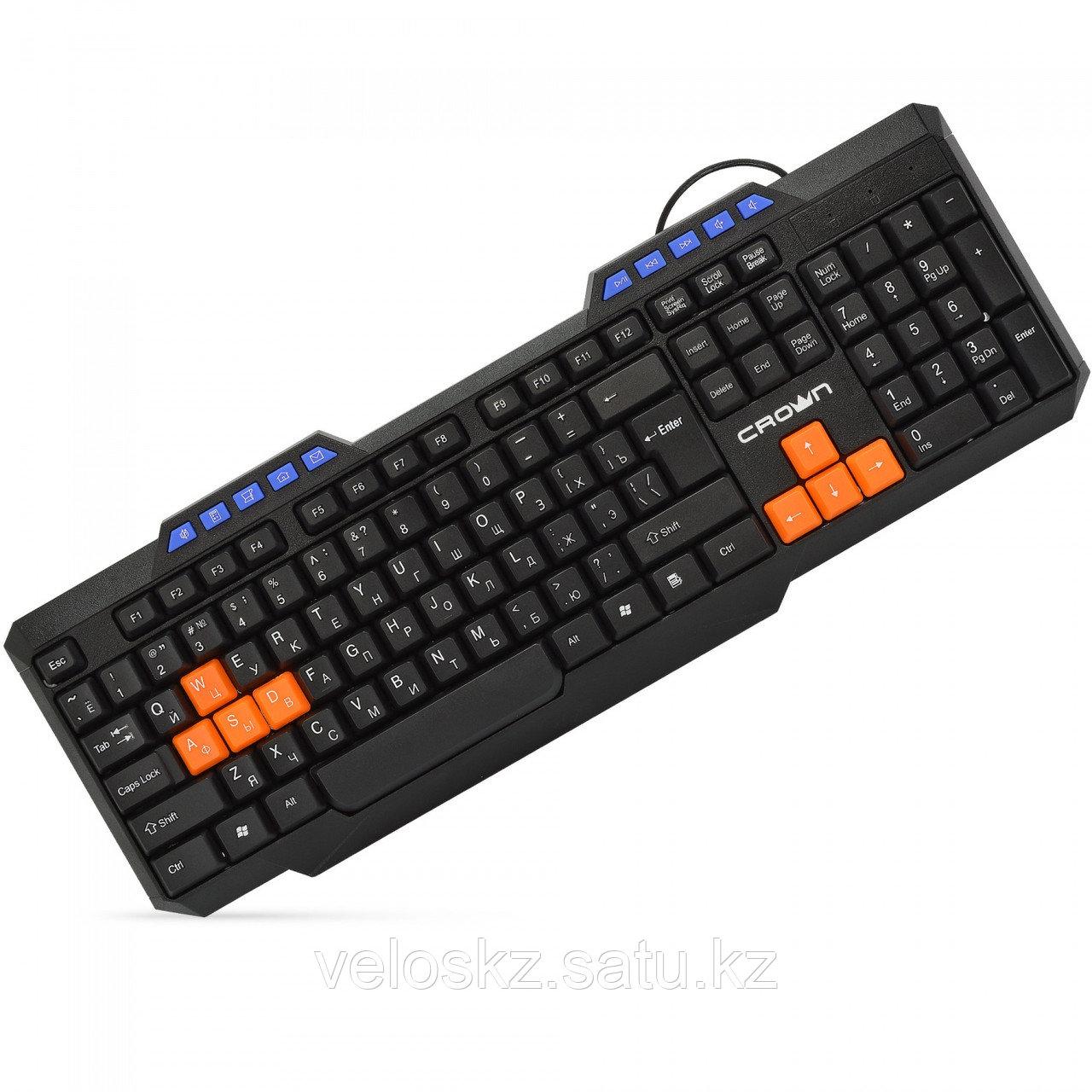 Клавиатура проводная Crown CMK-482, USB, 1,8m