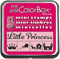 Набор мини штампов КолорБокс (MY FIRST COLORBOX) - PRINCESS (принцесса)