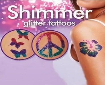 Блеск татуировки Shimmer Glitter Tattoos.