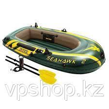 Надувная 2-х местная лодка INTEX SeaHawk 2 Set 68347