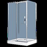 Душевое ограждение - AB214-120  1200*900*2000 (без поддона) светлое стекло