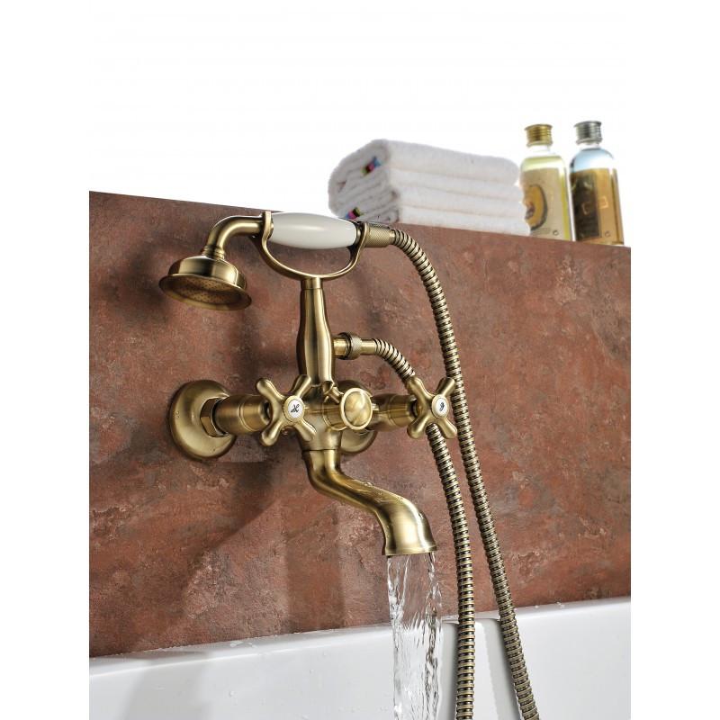 """Смеситель для ванны с коротким изливом, бронза (к/к 4) LM2812B """"Винтаж"""""""