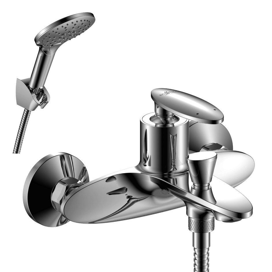 Смеситель одноручный для ванны с коротким изливом, хром