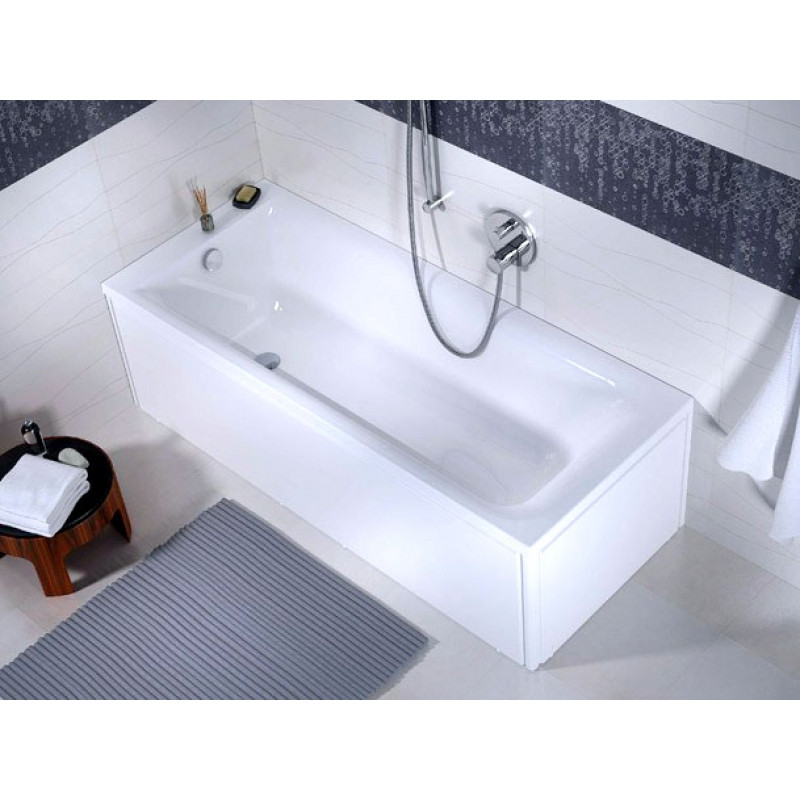 Ванна акриловая Фортуна 150*70 в комплекте с ножками и элементами крепления