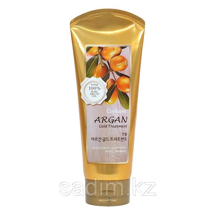 Welcos Confume Argan Gold Treatmet -  Маска для поврежденных волос на основе арганового масла