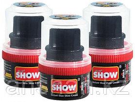 Крем для обуви стакан с губкой Show черный