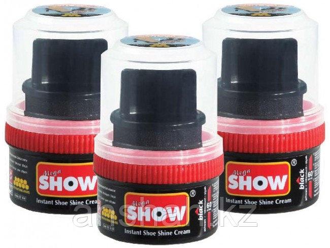 Крем для обуви стакан с губкой Show коричневый