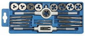 """Набор ЗУБР """"МАСТЕР"""" с металлореж. инструментом, метчики однопроходные и плашки М3-М12"""