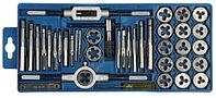 """Набор ЗУБР """"МАСТЕР"""" с металлореж. инструментом, метчики однопроходные и плашки М3-М12, оснастка - в пласт. бок"""