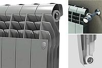 Радиатор биметаллический BiLiner 500 Silver Satin Royal Thermo серебристый, фото 1
