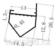 Алюминиевый   профель для Led угловой ветринный, фото 3
