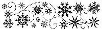 Переводки двусторонние самоклеющиеся - SNOW FUN (снежные забавы)