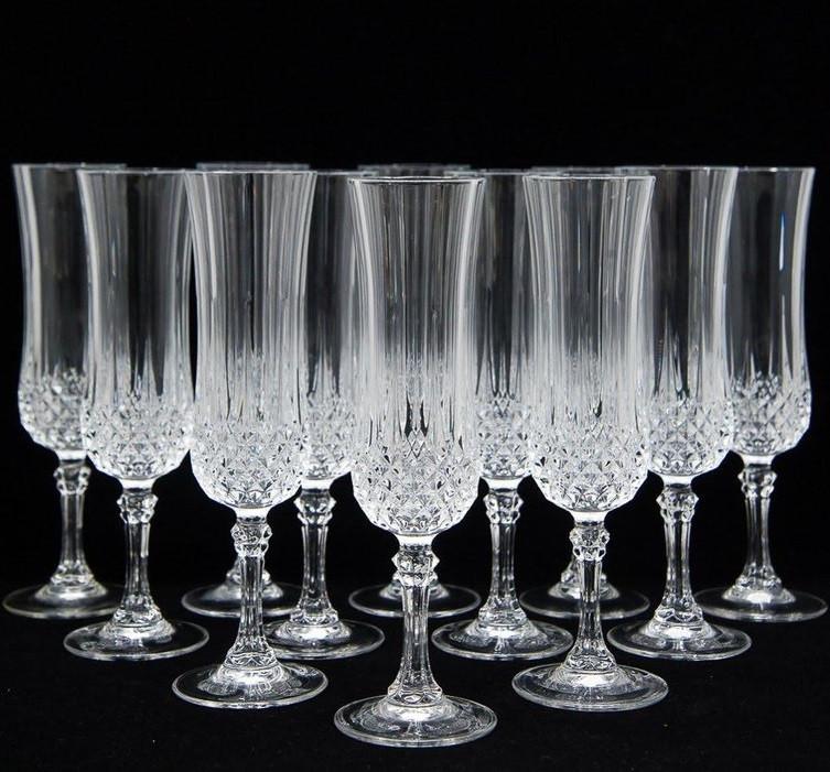 Набор хрустальных бокалов для шампанского Eclat Longchamp 140 мл (6 штук)