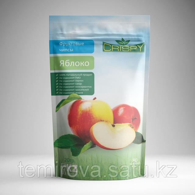 дизайн упаковки яблочных чипсов