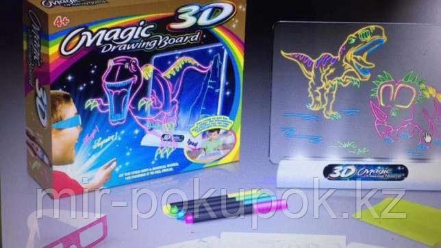 Магическая 3D доска для рисования Magic Drawing Board 3D Мир динозавров