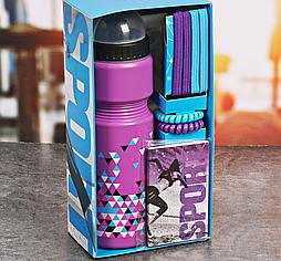 """Набор """"Треугольники"""", бутылка для воды 800 мл, повязка для волос 2шт., блокнот"""
