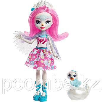 "Enchantimals Кукла ""Энчантималс"" с питомцем - лебедь Саффи, 15 см"