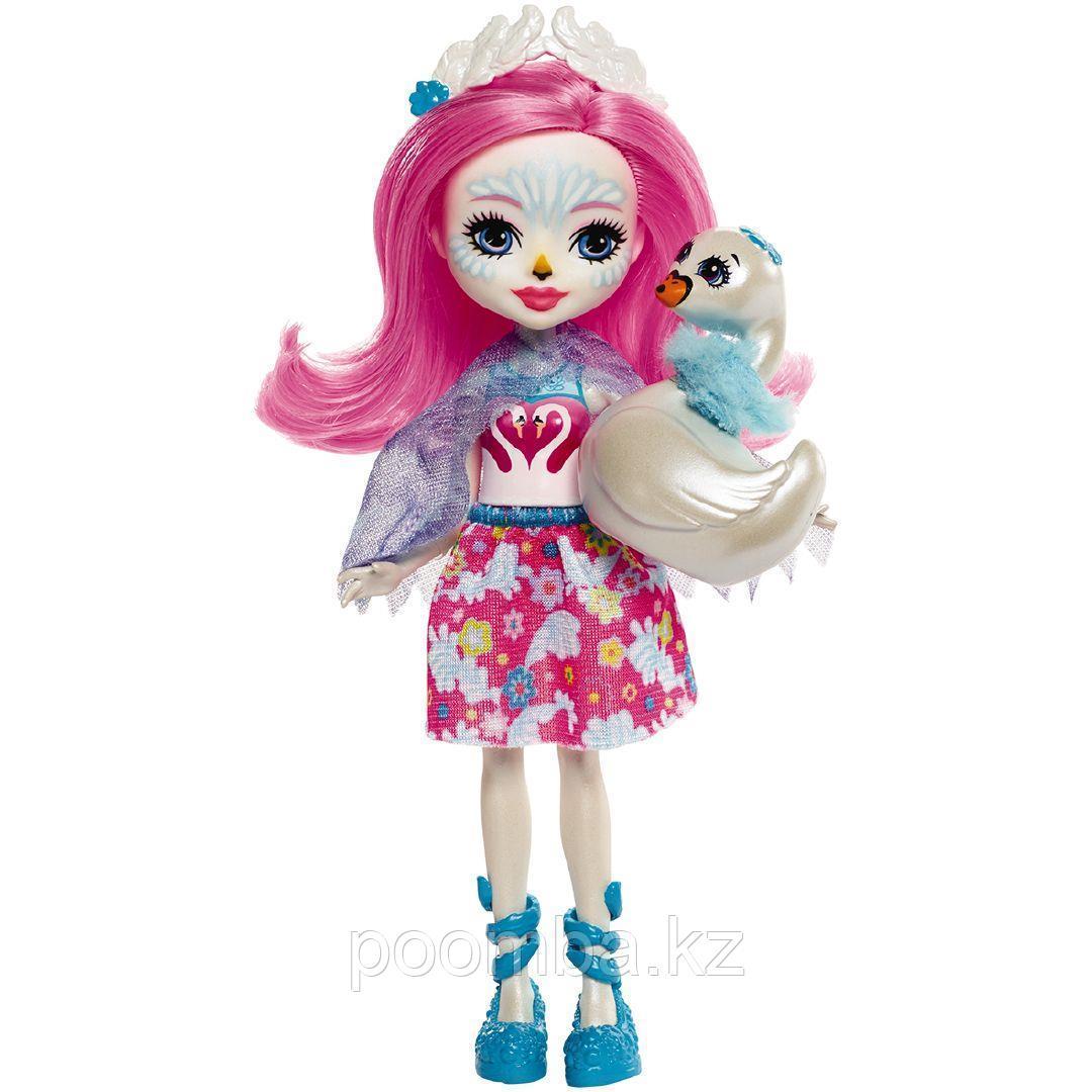 "Enchantimals Кукла ""Энчантималс"" с питомцем - лебедь Саффи, 15 см - фото 2"