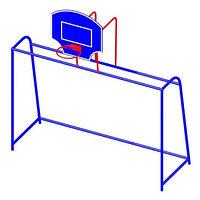 Ворота с баскетбольным щитом СКС 082