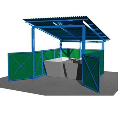 Навес для 1 мусорного бункера 8м3 СКП 114