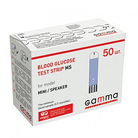 Тест-полоски для контроля уровня глюкозы в крови GAMMA MS