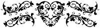 Переводки двусторонние самоклеющиеся - VINTAGE HEART (винтажное сердце)