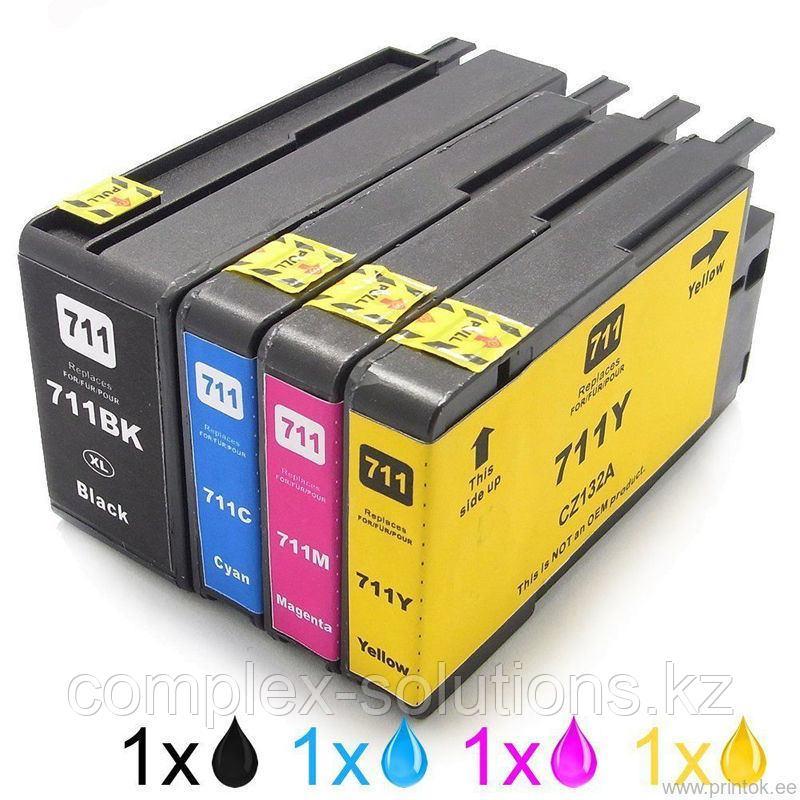 Картридж HP CZ132A Yellow №711 JET TEK   [качественный дубликат]