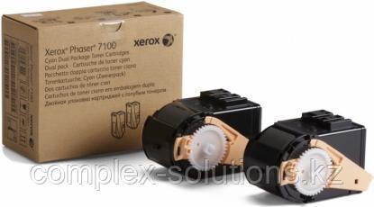 Тонер картридж XEROX 7100 Cyan (2x4.5k) | Код: 106R02609 | [оригинал]
